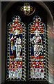 TQ4110 : Stained glass window, St Michael's church, Lewes by Julian P Guffogg