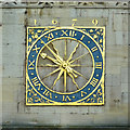 TL4458 : Clock on the Church of St Mary the Great, Cambridge by Roger  Kidd