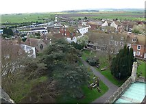 TQ9220 : St Mary, Rye: view from the rooftops (vii) by Basher Eyre