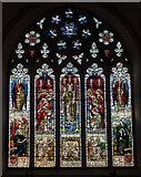 TQ9220 : Stained glass window, St Mary's church, Rye by Julian P Guffogg
