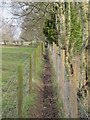 "NY8777 : Extremely narrow ""public"" footpath opposite St. Giles Church, Birtley (2) by Mike Quinn"
