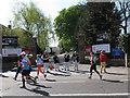 TQ4077 : London Marathon 2014: jazz quartet by Stephen Craven