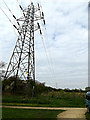 TQ0994 : Looking along the Electricity Transmission Line by Adrian Cable