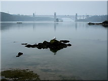 SH5571 : Menai Straits from Church Island by Chris Heaton