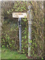 NY8777 : Old sign to Wark Station, Birtley by Mike Quinn