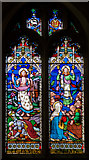TQ4210 : Stained glass window, St Thomas à Becket church, Cliffe, Lewes by Julian P Guffogg