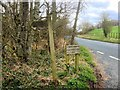 NY4725 : Bridleway Sign at the Side of the A592 near Pooley Mill by David Dixon