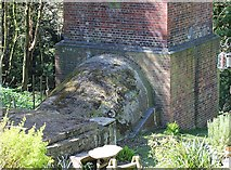 SO7643 : Base of railway tunnel airshaft, Upper Colwall by Bob Embleton