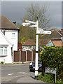 SK6443 : Fingerpost, Nottingham Road/Church Road, Burton Joyce by Alan Murray-Rust