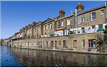 TQ2482 : Canal side properties on Harrow Road by David P Howard