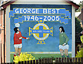 J0053 : George Best mural, Portadown (April 2014) by Albert Bridge