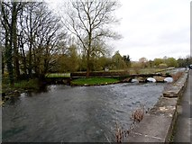 SP1106 : Stone footbridge over the River Coln at Bibury by Bikeboy