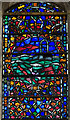 TQ9220 : Detail, Stained glass window, St Mary's, Rye by Julian P Guffogg