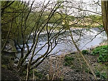 SD7909 : River Irwell, Weir at Buckley Wells by David Dixon