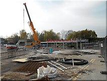 SD7807 : Car Park Construction at Radcliffe Metrolink Station - April 2014 by David Dixon