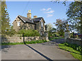 SK8043 : Staunton Hall Lodge and gates by Alan Murray-Rust
