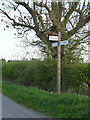 SK7649 : Fingerpost on Moor Lane, East Stoke by Alan Murray-Rust