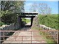 SD4677 : Track  under  railway  line by Martin Dawes