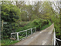 TM3569 : Loves Lane footpath & entrance to Lane House by Adrian Cable
