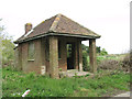 TG1338 : Guardhouse at the entrance to RAF West Beckham (A Site) by Evelyn Simak