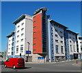 NJ9406 : Student flats, Mealmarket Street, Aberdeen by Bill Harrison