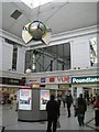 SP0367 : A clock in the Kingfisher Shopping Centre, Redditch by Robin Stott