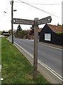 TM4291 : Angles Way footpath sign by Adrian Cable