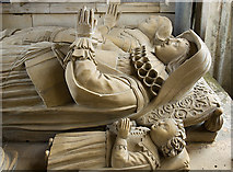 SP1729 : St James's church, Longborough: Leigh monument (detail 3) by Mike Searle