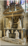 SP0202 : St John the Baptist's church, Cirencester: Monox monument by Mike Searle