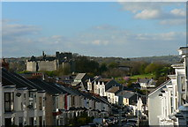 SS6188 : Oystermouth Castle, from Woodville Street by john bristow