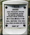 NS9082 : Oil pipeline marker by M J Richardson