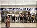 TQ2781 : Ticket barriers, Marylebone Underground station by Robin Stott