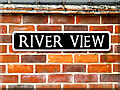 TM4191 : River View sign by Adrian Cable
