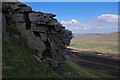SD8373 : Gritstone outcrop, Pen-y-ghent by Ian Taylor