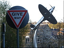 SD6922 : A good place to give way for a Spitfire view! by Tom Howard