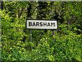 TM4189 : Barsham Village Name sign by Adrian Cable