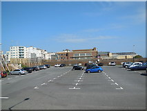 TQ2804 : King Alfred Leisure Centre Car Park by Paul Gillett