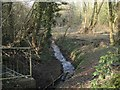 SP0364 : The Wharrage brook at Walkwood Road, Walkwood, Redditch by Robin Stott