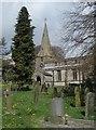 SK1471 : Taddington churchyard by Andrew Hill