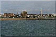 SZ6398 : Southsea Common and Royal Naval War Memorial, from the water by Christopher Hilton