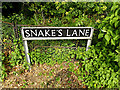 TM3991 : Snake's Lane sign by Adrian Cable