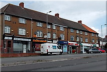 ST3090 : Row of shops, Malpas Road, Newport by Jaggery
