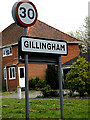 TM4092 : Gillingham Village Name sign by Adrian Cable