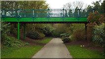 NZ3956 : Former railway path, Mowbray Park, Sunderland by Malc McDonald
