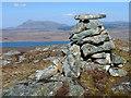 NC4415 : Summit cairn, Beinn Sgreamhaidh, Sutherland by Claire Pegrum