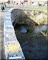 SP0267 : Mosaic tiled parapet to footbridge, Batchley Pool, Batchley, Redditch by Robin Stott