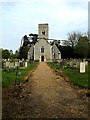 TM4192 : St.Mary's Church & entrance path by Adrian Cable