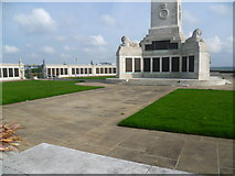 TQ7668 : The base of the obelisk at the Chatham Naval Memorial by Marathon