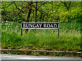 TM3993 : Bungay Road sign by Adrian Cable