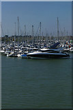 SZ3394 : Lymington Marina from the Isle of Wight ferry by Christopher Hilton